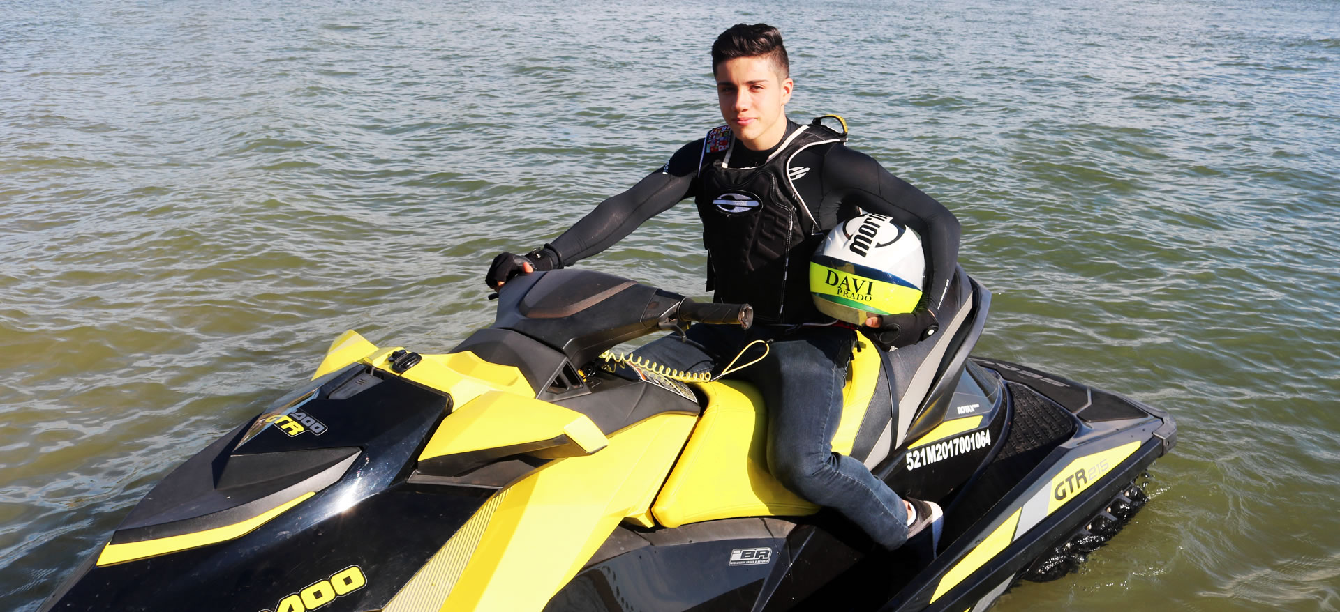 Davi Prado é bicampeão mundial de Jet ski